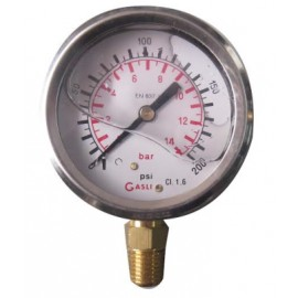 Reloj Manometro Con Glicerina De 200 Lbs